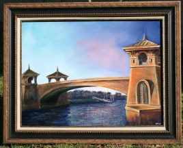 "Andi Schoenbaum ""[It's Not] Water Under the Bridge"" 16x20 Oil on Canvas"