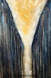 """Divergence"" Andi Schoenbaum 24""x36"" Oil on canvas 2017"