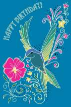 Hummingbird Happy Birthday