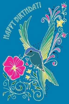 Hummingbird Happy Birthday