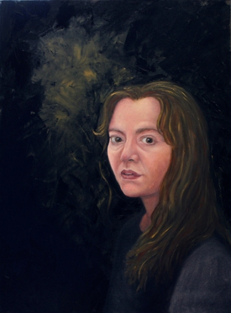 "Self-Portrait from Life 18"" x 24"" Oil on Canvas Andi Schoenbaum, 2009"