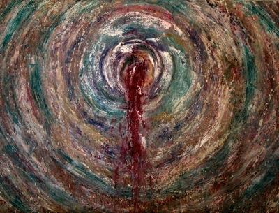 """Andi Schoenbaum Vortex, 2011 Oil on Canvas 40"""" x 30"""""""