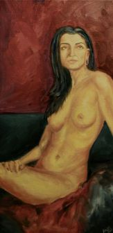 "Zhanna 8"" x 16"" Oil on Canvas Andi Schoenbaum, 2011"