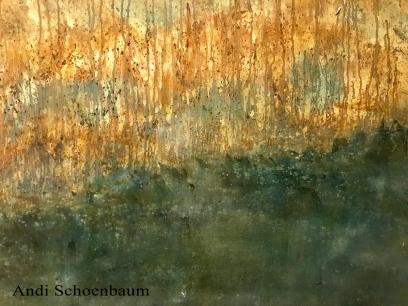 """Gathering"" Andi Schoenbaum 36""x24"" Oil on canvas 2017"