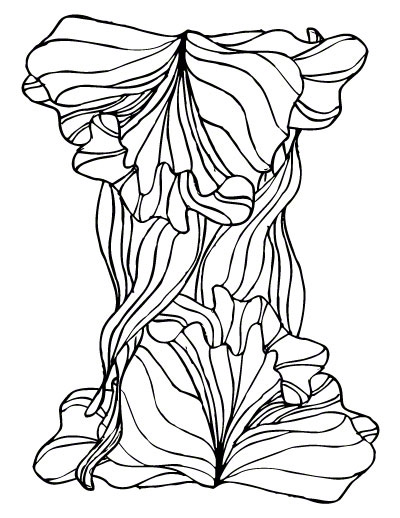 fine line coloring pages - photo#7